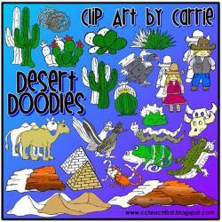 Desert clipart cameleon