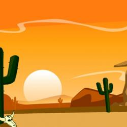 In The Desert clipart cartoon