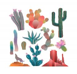 In The Desert clipart colorful