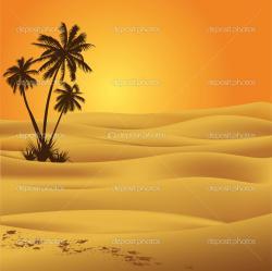 Oasis clipart desert background