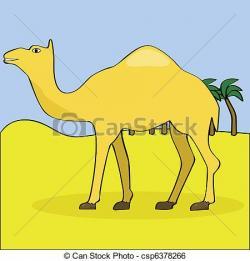Drawn camels desert camel