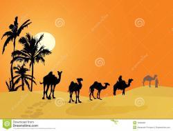 Caravan clipart desert caravan