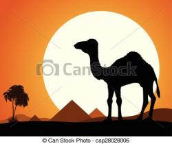 In The Desert clipart desert camel