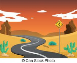 In The Desert clipart desert road