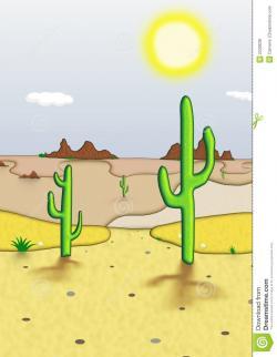 Barren clipart desert scene