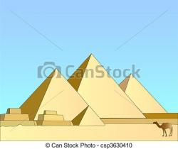 In The Desert clipart egyptian pyramid