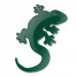 Gecko clipart turquoise