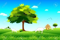 Countyside clipart grassland