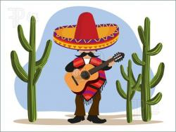 Mexican clipart Mexican Cactus Clipart
