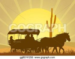 In The Desert clipart old west