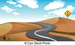 In The Desert clipart pathway