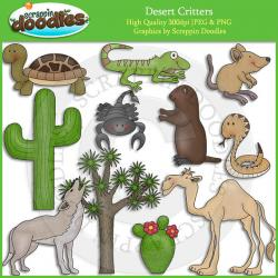 In The Desert clipart plants and animal