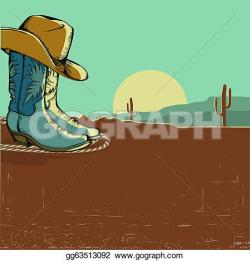 In The Desert clipart western background