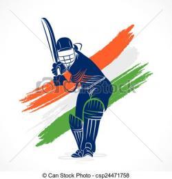 Cricket clipart sketch