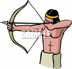Native American clipart bow and arrow