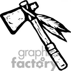 Native American clipart tomahawk