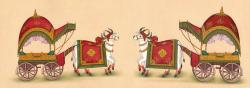India clipart bullock cart