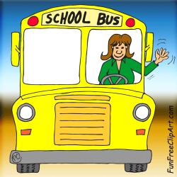 Women clipart bus driver