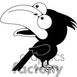 Crow clipart funny