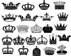 Silver clipart royal crown
