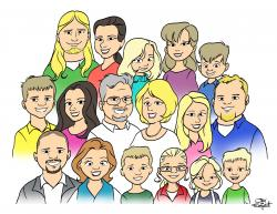Larger clipart nuclear family