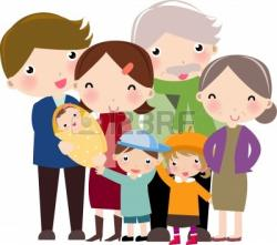 Indian clipart extended family