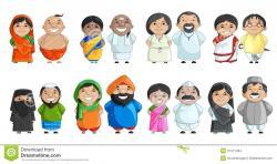 India clipart family photo