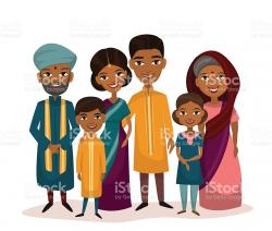 Indian clipart family photo