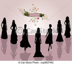 Indian clipart fashion show
