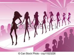 Fashion clipart catwalk