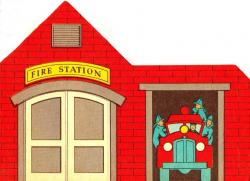 Police clipart fire station