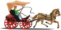 Indian clipart horse cart