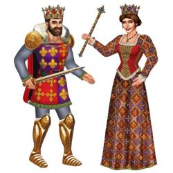 Medieval clipart king and queen