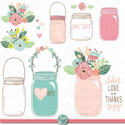 Drawn mason jar cute