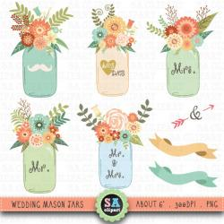 Jar clipart vintage wedding