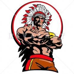 Indian clipart muscular