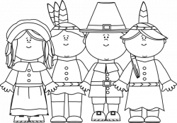 Pilgrim clipart black and white