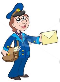 Letter clipart postman