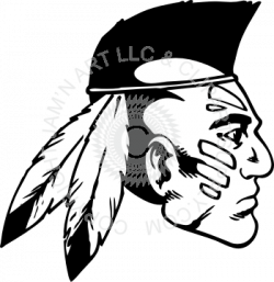 Indians clipart indian head
