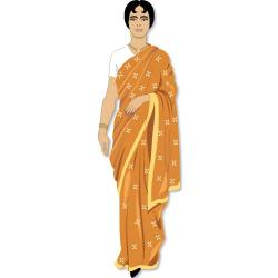 Saree clipart indian village