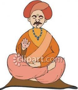 Meditation clipart guru