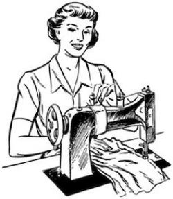 Indians clipart lady sewing