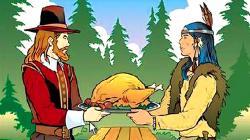 Traditional clipart first thanksgiving