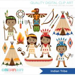 Indians clipart tribe