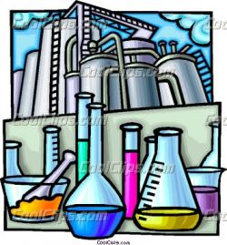 Industrial clipart chemical factory