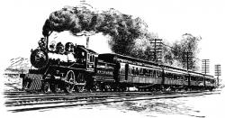 Locomotive clipart transcontinental railroad