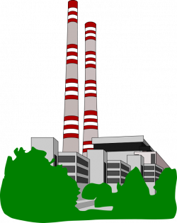 Industrial clipart electrical power plant