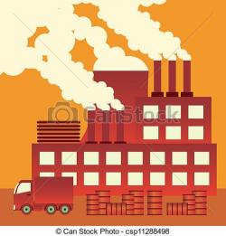 Industrial clipart factory air pollution