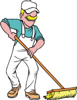 Men clipart sweeping