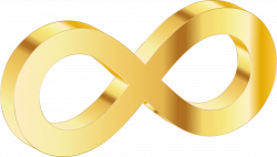 Infinity clipart gold